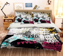 3D Stylish Girl Bed Pillowcases Quilt Duvet Cover Set Single Queen King Size AU - $90.04+