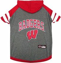 NCAA Wisconsin Badgers Hoodie for Dogs & Cats, Large. | Collegiate Licensed Dog