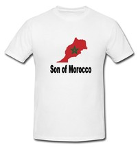 Son of Morocco Moroccan Flag Country T-shirt New White S, M, L, XL, XXL - $20.00