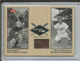 Roy Campanella 2002 Fleer Greats Game Used Glove DDRC1 w/ Yogi Berra - $74.68