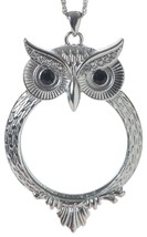 """Owl Magnifier Magnifying Glass Pendant Necklace, 30"""" - $48.46"""