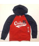 OshKosh B'Gosh Boys Full Zip Hoodie Red Blue Size 8 NWT - $22.39