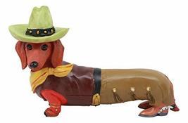 "Ebros Doxie Collection Wild West Western Cowboy Dachshund Figurine 6"" L ... - $21.77"