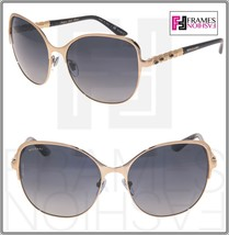 BVLGARI Le Gemme BV6078KB Black Gold 18K Plated POLARIZED Sunglasses 607... - $436.59