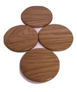 Round Coasters Handcrafted from Oak Hardwood - $18.00