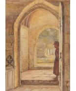 M.A.E - Early 20th Century Watercolour, Interior of All Saints Church, A... - $59.31