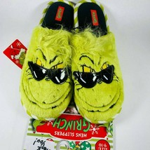 Mens Dr Seuss Grinch Slippers 9 10 11 12 Christmas - $24.99