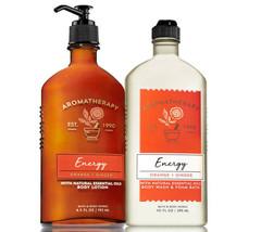 Bath & Body Works Aromatherapy Orange & Ginger Body Lotion + Body Wash Set - $27.39