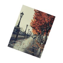 Diy Oil Painting, Paint By Number Kit- Romantic Love Autumn 16X20 Inch - $53.99