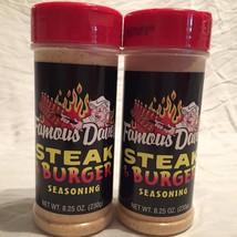 2 Bottles FAMOUS DAVES Steak & Burger Seasoning... - $14.01