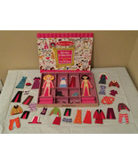 Melissa and Doug Lot Magnetic Wooden Dress Up Dolls Abby Emma and Sticke... - $11.99