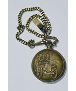 RELIC'' Mens quartz Pocket Watch Skeleton Dial Antiqued Tone on Chain Ru... - $23.33