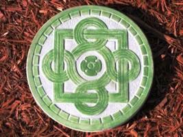 "1 DIY 14""x2"" ROUND CELTIC STEPPING STONE MOLD MAKE CRAFTS AT HOME FOR $1.00 EACH image 3"
