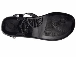 Michael Kors MK Premium Plate Jelly Thong Rubber T-Strap Shoes Sandals image 4