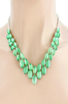 Light Green Ice Crystals Necklace Earrings Set Costume Jewelry Casual , Everyday - $19.00