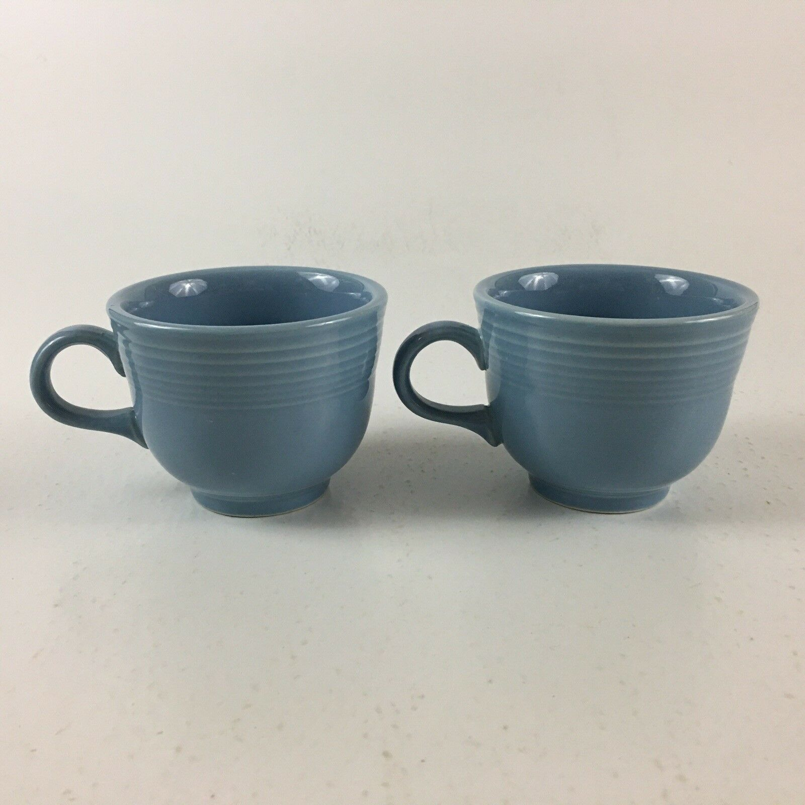 Fiestaware Homer Laughlin Periwinkle Blue Set Of 2 Coffee Cups USA