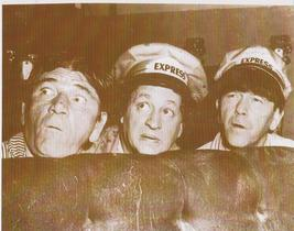 3 Stooges Express 1 Moe Larry Curly Vintage 8X10 Sepia TV Memorabilia Photo - $4.99
