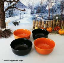 Royal Norfolk Stoneware Bowls (4) -NEW- Scare Up Some Simple Halloween Chic! - $39.95