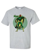 The Vision gray tee retro bronze age marvel comics avengers graphic t shirt image 2