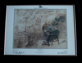 Framed Charles Dickens Heritage Edition Print ~ Dickens Dream ~Rare   - $87.00