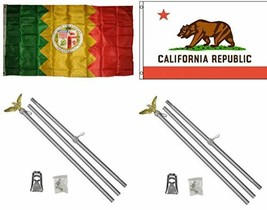 ALBATROS 3 ft x 5 ft City of Los Angeles with State California Flag with... - €111,15 EUR