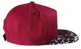 Dope Couture D0915-H206-BUR Seurat hook Loop Strapback Cap Burgundy Speckled Hat image 4