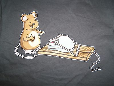 Primary image for Snapped Mouse Trap Caught Computer Mouse Funny Humor Graphic Print T Shirt S