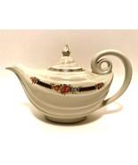 Vintage Halls Superior Aladdin Teapot w/ Lid Blue Bouquet Floral Platinu... - $33.66