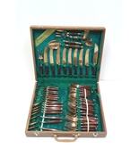 Vintage Bronze and Rosewood Flatware Set, Service for Eight Plus Serving... - $799.00