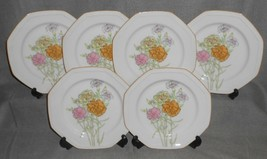 Set (6) Mikasa CANDY TUFT PATTERN Salad Plates MADE IN JAPAN - $29.69