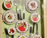 Vintage Child's Set Of Metalware Cookware & Utensils Goldilocks 3 Bears HK