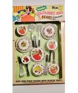 Vintage Child's Set Of Metalware Cookware & Utensils Goldilocks 3 Bears HK - $9.89