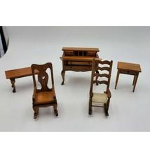 Vintage Mixed Miniature Dollhouse Furniture Dresser, Rocking Chair, Tabl... - $40.00
