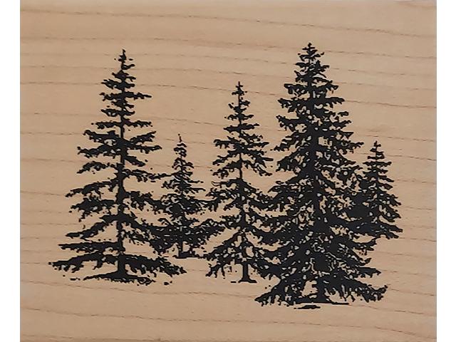 Inkadinkado Trees Wood Mounted Rubber Stamp #96488-DD