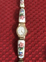 Vintage Yanka Porcelain Enamel Wind Up Ladies Watch - $60.67
