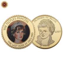 WR Royal Princess of Wales Diana Commemorative Gold Coin Collector Birth... - $4.42