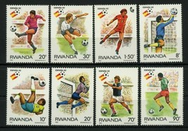 Soccer Sport Cup Spain '82 Serie Set of 8 Stamps Mint NH - $28.30