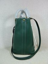 NWT Tory Burch Malachite Green Miller Bucket Tote image 4