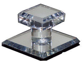 "Clear Acrylic Stick-On Mirror Knob - 1-3/4"" Square - $7.70"