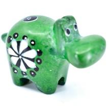 Tabaka Chigware Hand Carved Soapstone Green Hippopotamus Hippo Miniature Figure image 1