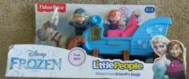 Disney Frozen Kristoff's Sleigh Fisher Price Little People - Lights Up & Bobs - $18.70