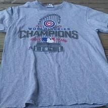 Chicago Cubs World Series Champions 2016 T Shirt Gray Majestic Mlb M - $18.42