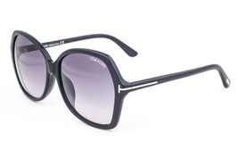 Tom Ford Carola Shiny Black / Gray Gradient Sunglasses TF9328 01B Asian Fit