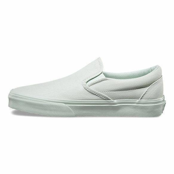 VANS Classic Slip On (Mono Canvas) Milky Green Skate Shoes MEN'S Size 8.5