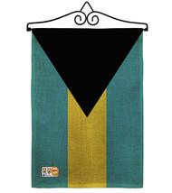 Bahamas Burlap - Impressions Decorative Metal Wall Hanger Garden Flag Se... - $33.97