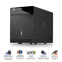 "Mediasonic USB 3.1 4 Bay 3.5"" SATA Hard Drive Enclosure – USB 3.1 Gen 2 10Gbps T"