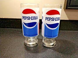 Vintage Pepsi Drinking Glasses - Set of Two (2) - Excellent Condition - $39.95