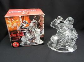 1999 Cristal d'Arques 24% Lead Crystal Christmas Santa Coca-Cola Figurin... - $12.99