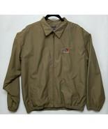 Vintage Men's Chaps Ralph Lauren Large Dark Tan w/Crest Full Zip Jacket - $14.20