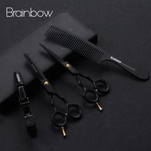 Brainbow 5.5' Professional Black Japan Hair Scissors Cutting Thinning Ha... - $48.78+